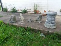 SELECTION OF GARDEN ORNAMENTS