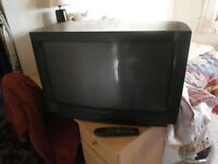 28 inch colour tv with remote and user manual