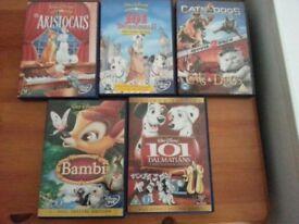 Disney etc DVDs x 5 - Chatham