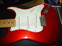 Fender 'Jimmie Vaughan' Stratocaster. Mint Condition, Tex Mex Pickups with Hot Bridge, V Neck,Gigbag