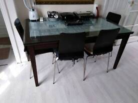 Excellent Dining Table with 4 chairs
