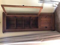 Dark Pine Corner Display Cabinet by Durham Pine