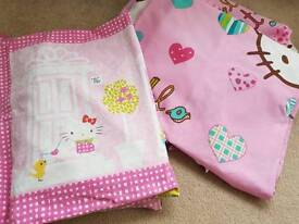 Hello Kitty single bed set and curtains