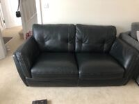 Leather sofas - 3 and 4 seater - Great condition - Collection Watchfield