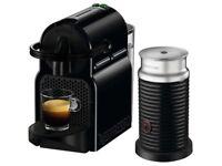 Nespresso Inissia Coffee machine black + milk frother