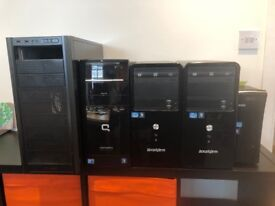 5 PC Towers, PRICE DROP, fully working order (see description for details)