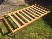 Pine folding trundle bed frame