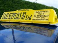 New Regulation Crescent style DOE Approved Taxi Roof Sign, LED Lighting, £120 No VAT
