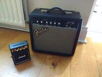 Fender Frontman and Mini Marshall Amp