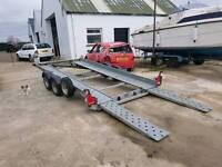 Car transporter .tilting trailer.