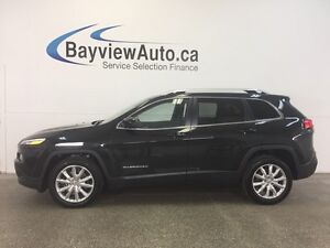 2016 Jeep CHEROKEE LTD- 3.2L! REM START! NAV! REV CAM! LOW KM!