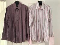 2 x men's long sleeved shirts - size S and 3 - £3.00 each