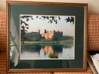Framed picture of Linlithgow Castle