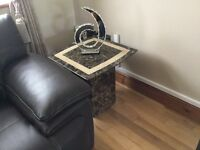 Marble coffee table + 2 side tables for sale
