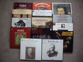 CLASSICAL MUSIC VINYL BOXSETS IN IMMACULATE CONDITION .