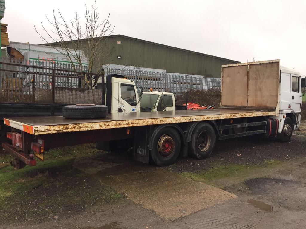 Erf ec8 26 ton flatbed truck p reg manual 30ft bed ideal export