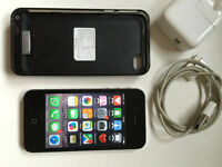 Apple iPhone 4S 64GB - Black - Factory Unlocked - Good Condition