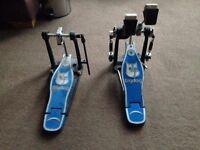 ** Big Dog Double Bass pedal blue - £45 **