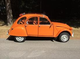 Totally restored Citroen 2CV6 with less than 600 miles