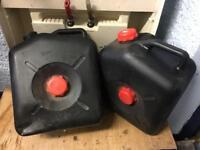 Caravan waste water barrels x2
