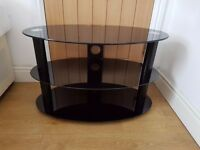 Black Glass TV Stand (Fantastic Condition)