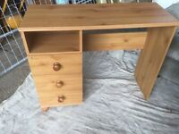 Pine Looking Dressing Table with Three Draws
