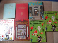 7 x Guinness Book Of Records 1958 First Impression, 1964, 1971, 1972 1974, 1975