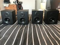 4 x Bookshelf Speakers (Wharfdale 30D.6)