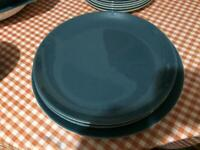Poole pottery round dinner plates