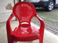 Red Kids Play Chair