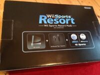 Wii sports resort pack and Wii fit plus board.