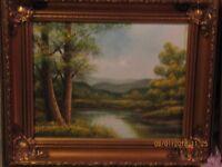 Pair of Oil Paintings in HEAVY GILT FRAMES