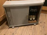 Shabby chic shoe cupboard