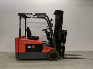 HOC TOYOTA FORKLIFT 3 WHEEL FORKLIFT 3 WHEEL ELECTRIC FORKLIFT + 3450 LB LOAD + 15 FOOT HEIGHT CAPACITY + CERTIFIED Ontario Preview