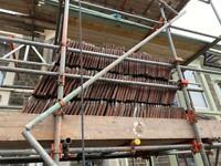 270 Clay double Roman roof tiles.