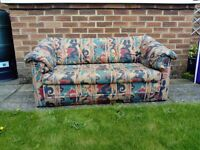 FREE 2 seater flop out bed settee CHESTERFIELD collection only