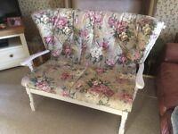 Vintage Spindle Back 2 Seater Sofa