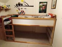 IKEA Kura kids cabin / bunk bed, with standard single mattress included