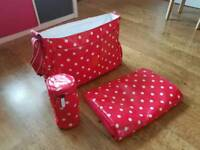 Cath Kidston Baby Change Bag with Bottle Insulator and Change Mat