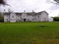A new 6 bed home and 2 bed cottage+triple garage for sale or to let in the staffordshire countryside