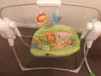 Fisher Price Rainforest Friends SpaceSaver Cradle swing chair