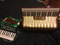 Hohner carrena 111 accordion 5 voices and & one other
