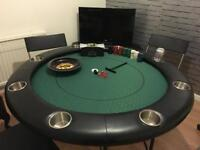 Poker table. Seats 8 with cup holders