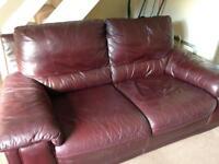 FREE two seater sofa - brown /burgundy