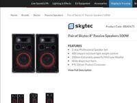 Skytec passive speakers