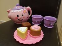 FISHER PRICE SAY PLEASE TEA SET LAUGH & LEARN