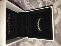 Pandora openwork linked love ring