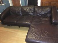 Brown Leather Corner Sofa £30 o.n.o
