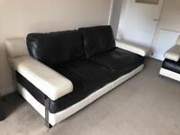 3 & 2 leather sofas