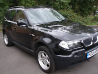 BMW X3 2.0 DIESEL (6 Speed manual gearbox) WITH LOW MILEAGE AND FULL SERVICE HISTORY